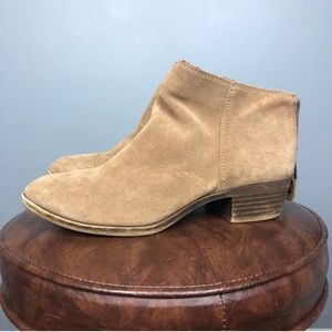Lucky Brand Tan Suede Ankle Booties Size 6